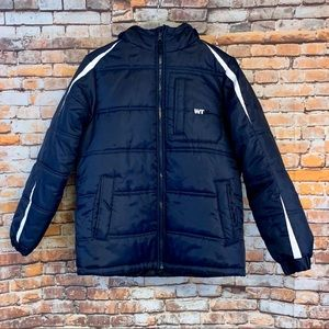 WTXtreme Boys Large 14/16 Navy Blue Hooded Puffer